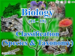3.4.5 Classification - Species & Taxonomy