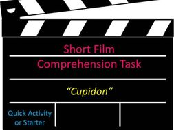 Short Film Comprehension Task Cupidon Quick Activity or Starter