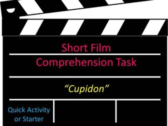 Short Film Comprehension Task Cupidon Quick Activity or Starter