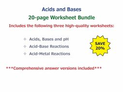 Acids and Bases [Worksheet Bundle]