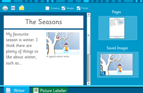 Make Your Own Information Poster: Seasons - Interactive Activity - KS2 Literacy