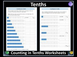 Counting in Tenths Worksheets