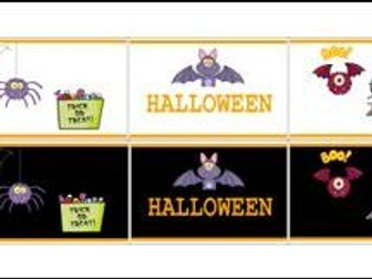 Halloween Banners with 2 colour backgrounds