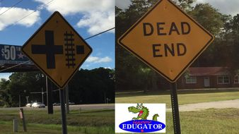 Dollar Stock Photos - Road Warning Signs 2