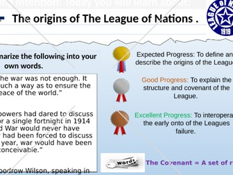 The Origins and Structure of 'The League of Nations'.