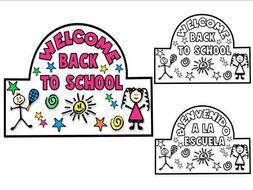 FIRST DAY OF SCHOOL ACTIVITIES ★ BACK TO SCHOOL ACTIVITIES ★ HEADBAND