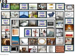 House Rooms and Furniture Animated Board Game