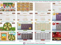 Passive versus Active Voice Kooky Class Spanish PowerPoint Game