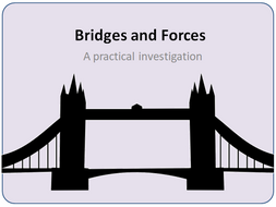 Bridge and Forces - PPT Presentation and printable  instructions