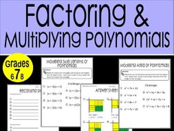 Factoring And Multiplying Polynomials Math Stations By Micsigaran