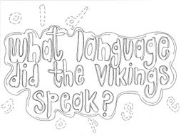 What Language did the Vikings Speak? (History) Colouring