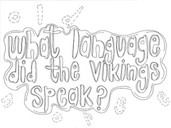 What Language did the Vikings Speak? (History) Colouring Page