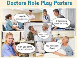 Doctors Role Play - Posters (Reading opportunity)