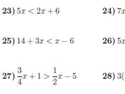 Linear inequalities worksheet (with solutions) by math_w - Teaching ...