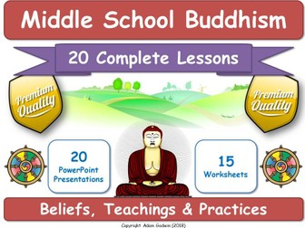 Middle School Buddhism Course (Complete Resources for 20 Lessons!)