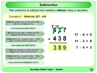 Subtraction KS4