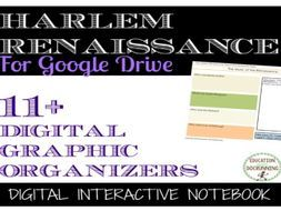 Harlem Renaissance Digital Interactive Notebook Pages for Google Drive