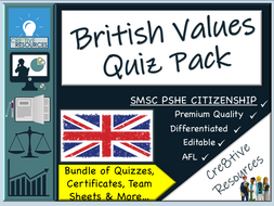 British Values Quiz Pack