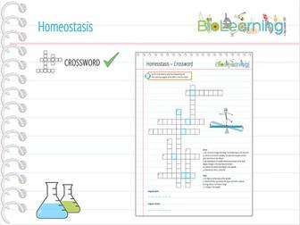Homeostasis - Crossword (KS4)