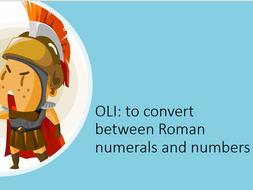 Roman numerals year 5 maths mastery