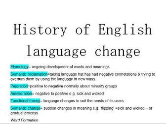 History of Language Change