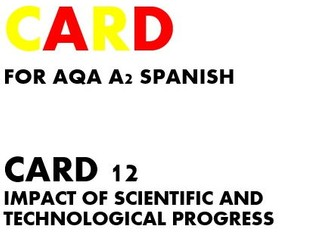 SPEAKING CARD 12 for AQA A2 SPANISH