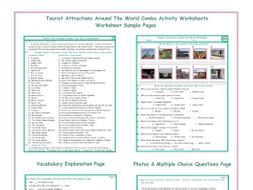 Tourist Attractions Around The World Combo Activity Worksheets