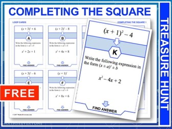 Completing the Square (Treasure Hunt)