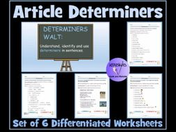 Article Determiners Worksheets