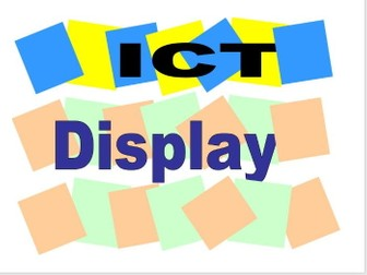 ICT words for Display or Activity