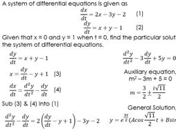 Modelling with differential equations