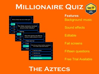 Millionaire Quiz! (The Aztecs Edition)