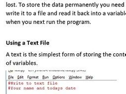 Using Files in Python Exercises CSV and Text