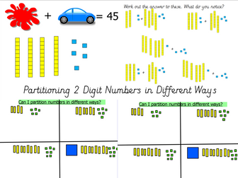 Year 2 Partition 2 Digit Numbers in Different Ways Base 10