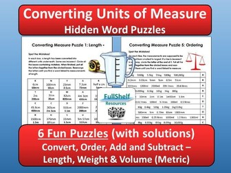 Converting Units of Measure Puzzles (Worksheets)
