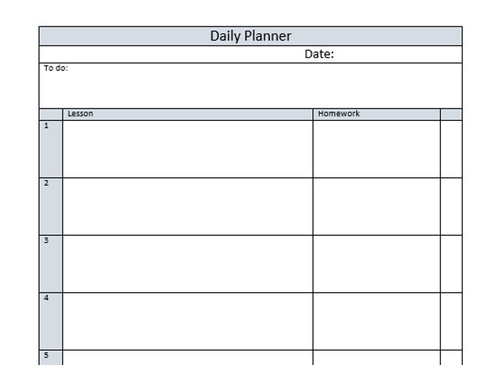 picture about Daily Planner Page known as Instructor Planner Website page with 8 Courses