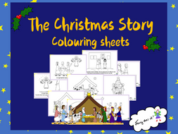 the christmas story colouring sheets