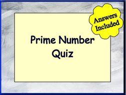 Prime Number Quiz