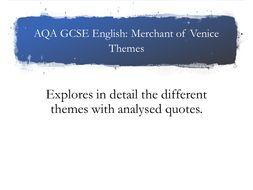 AQA. Merchant of Venice. Themes