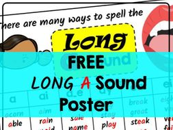 Long Vowel Sound 'a' Posters