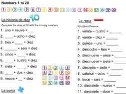 Spanish Numbers 1-100: Teaching, Activities and Revision