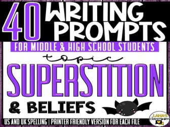 Daily Writing Prompts | Superstition | Middle and High School