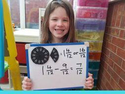 Subtracting fractions with the same denominator