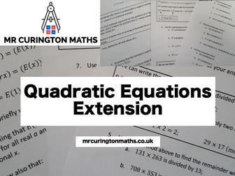 Quadratic Equations Extension