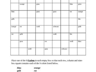Farben (Colors in German) Sudoku