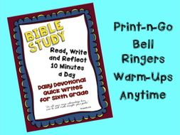 Daily Bible Study Reading and Writing Warm-Ups for Grade 6