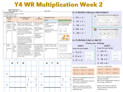 Y4 WR Multiplication Week 2 / Written Methods