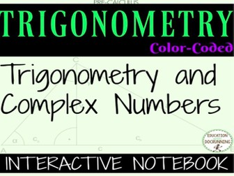 Trigonmetric forms of complex numbers Interactive Notebook  including multiplying and dividing
