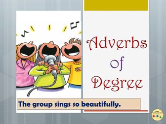 Adverbs of Degree Worksheets Display Posters, Flashcards Vocabulary