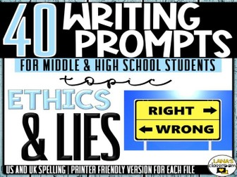 Daily Writing Prompts | Ethics and Lies | Middle and High School